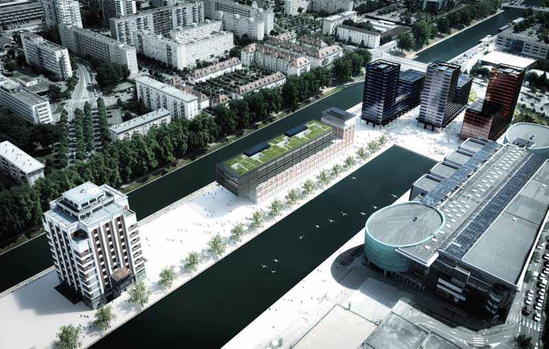 Projet hybride Black Swan à Strasbourg, le bassin