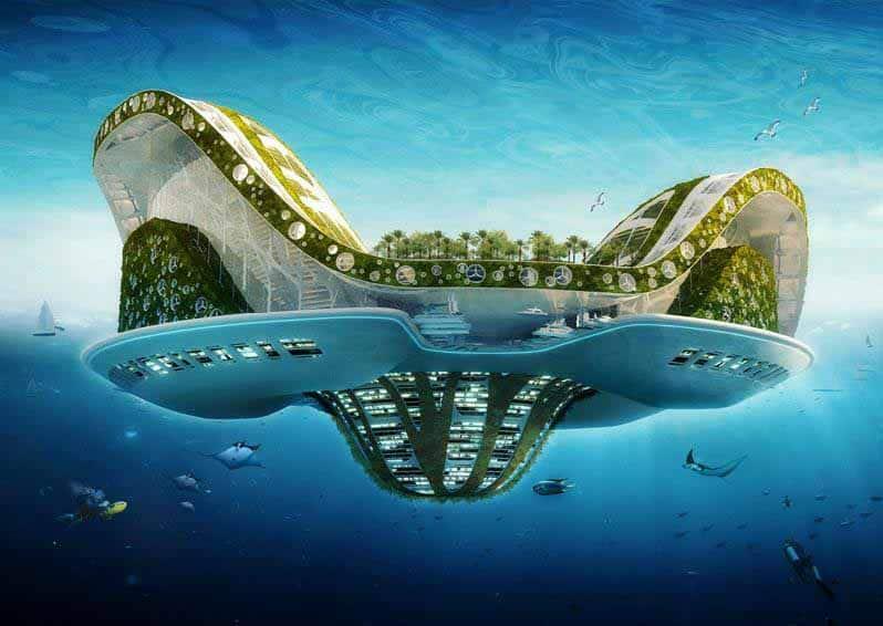 Lilypad de Vincent Callebaut, une ville amphibie pour les migrants climatiques