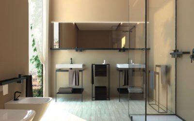 L'agencement d'une salle de bain dans un style minimaliste parfait