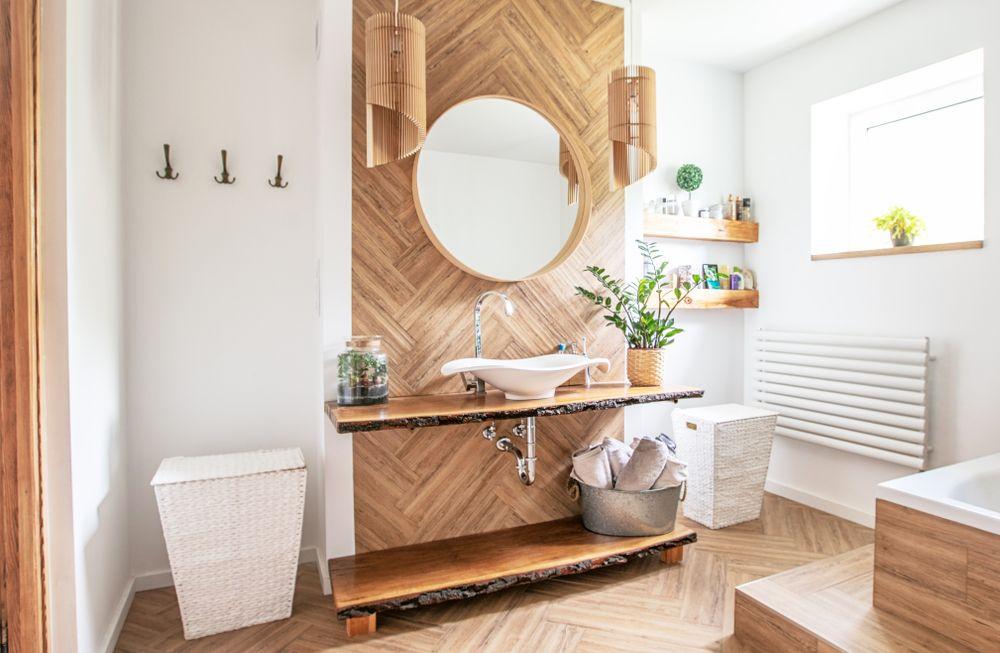 Une salle de bain bois pour une décoration chaleureuse et chic