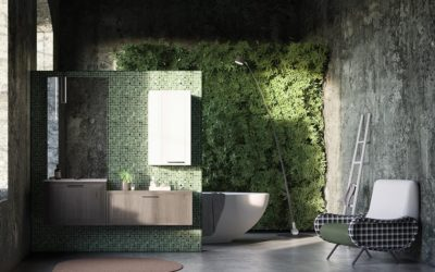 Un mur végétal dans la salle de bain, et si vous vous laissiez tenter ?