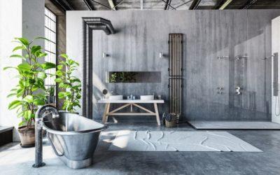 Salle de bain industrielle : une pièce d'eau originale pour vos clients !
