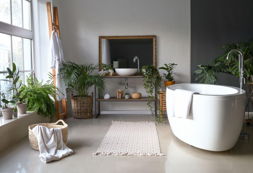 salle-de-bain-tendance-plante