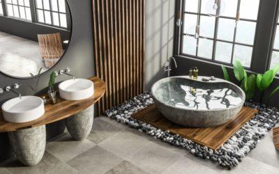 La salle de bains pierre, pour une ambiance chic, naturelle ou rustique
