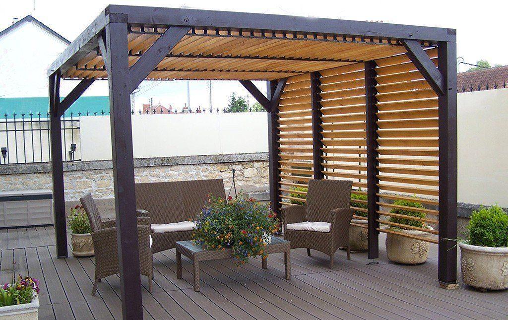 pergola bioclimatique en bois  l'esthétisme pour les