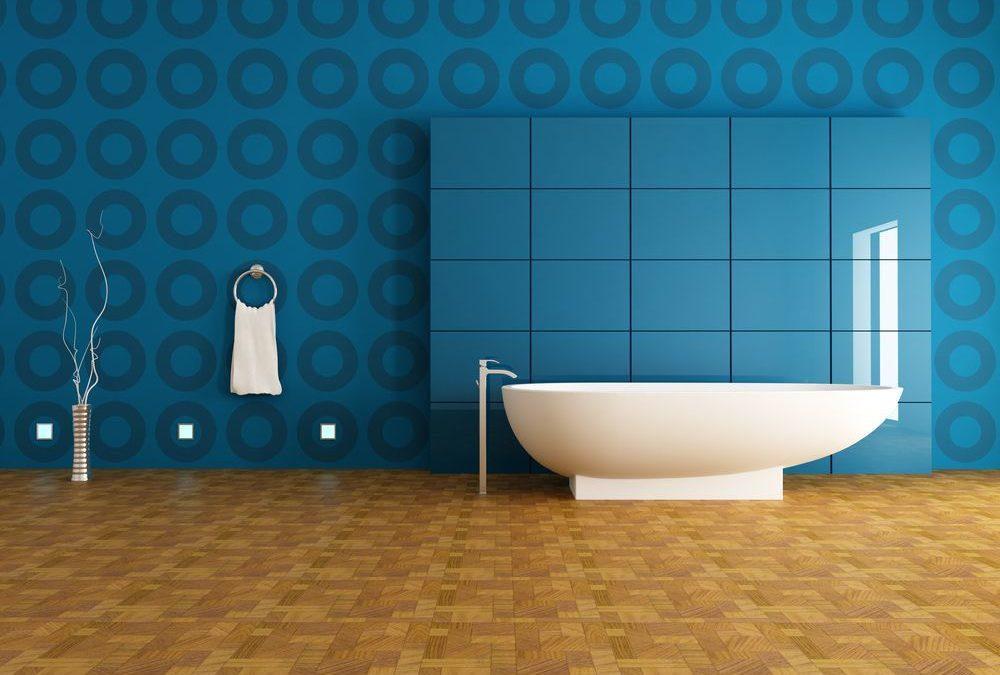 Le papier peint dans la salle de bain, c'est possible !