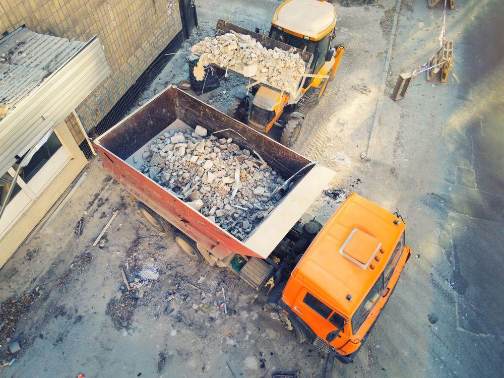 plateforme-recyclage-btp-benne