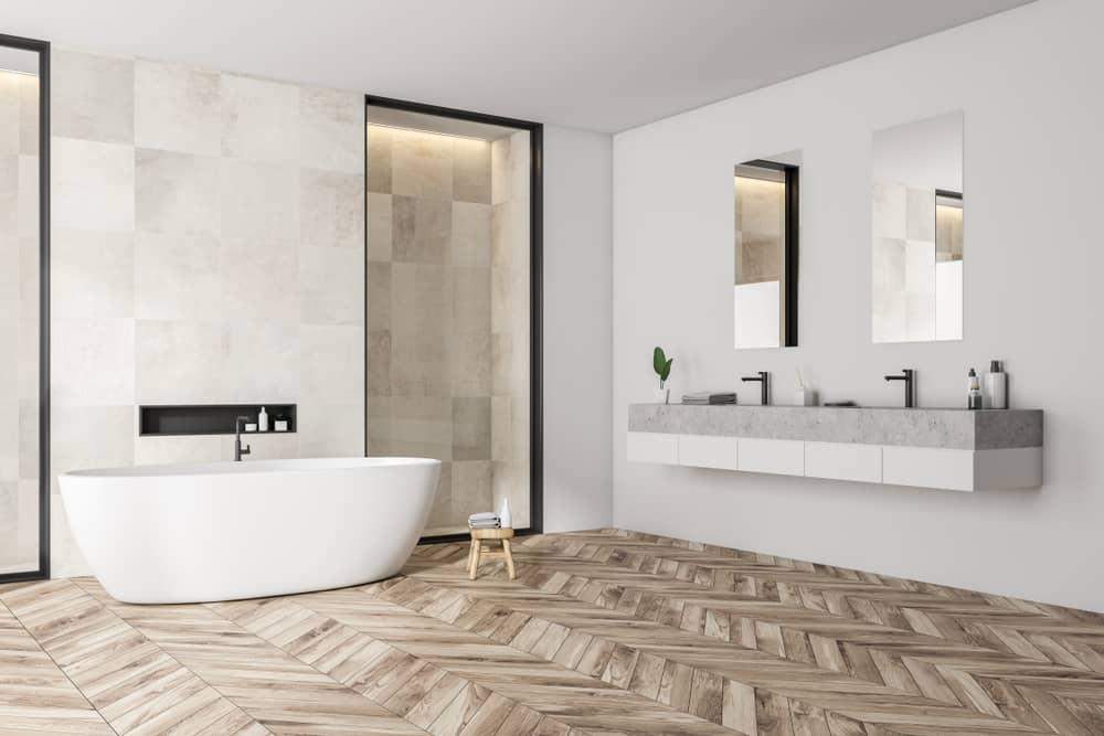 salle-de-bain-contemporaine-baignoire