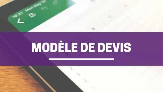 Modèle de devis sur Excel