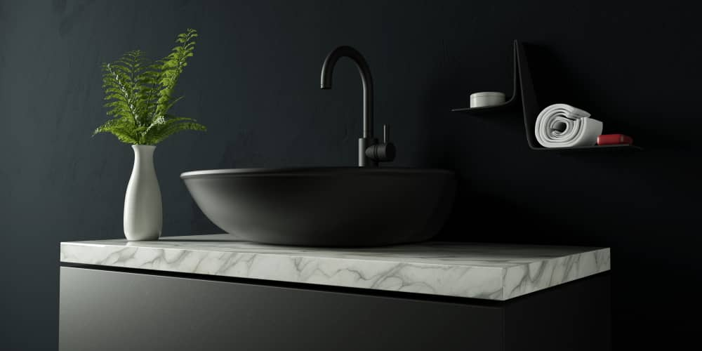 salle-de-bain-marbre-évier