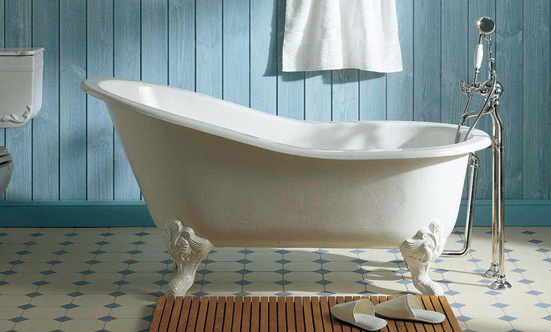 Herbeau, la salle de bain rétro chic
